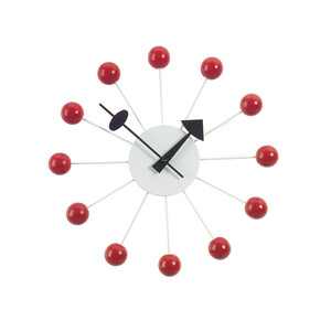 Vitra - Ball Clock, red