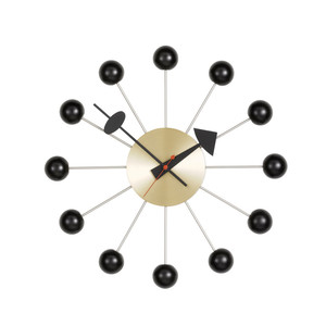 Vitra - Ball Clock, black / brass