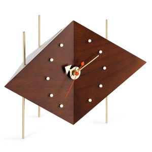 Vitra - Diamond Clock solid walnut