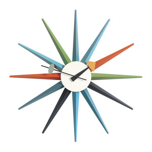 Vitra - Sunburst Clock, multicoloured