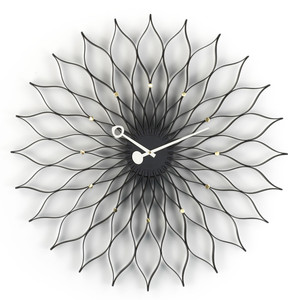 Vitra - Sunflower Clock  black / brass